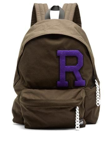 Matchesfashion.com Raf Simons X Eastpak - Pak'r Logo-appliqu Canvas Backpack - Mens - Dark Brown
