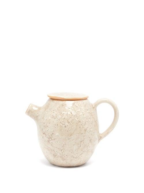 Matchesfashion.com Brunello Cucinelli - Ceramic Teapot - Cream