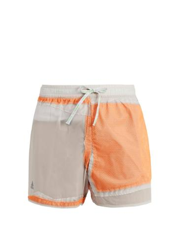 Adidas By Kolor Decon Contrast-panel Shorts