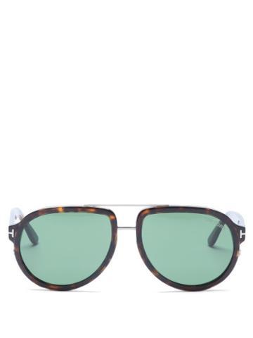 Matchesfashion.com Tom Ford Eyewear - Geoffrey Aviator Tortoiseshell-acetate Sunglasses - Mens - Tortoiseshell