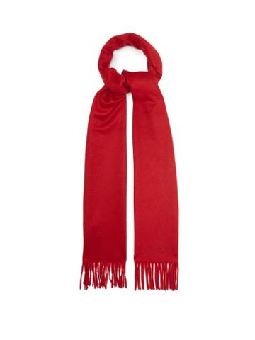 Matchesfashion.com Alexander Mcqueen - Fringed Cashmere Scarf - Mens - Red