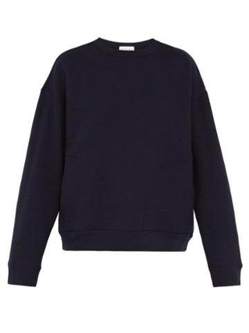 Matchesfashion.com Raey - Crew Neck Japanese Jersey Sweatshirt - Mens - Navy