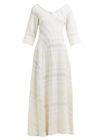 Matchesfashion.com Lisa Marie Fernandez - Bias Cut Cotton Maxi Dress - Womens - Cream
