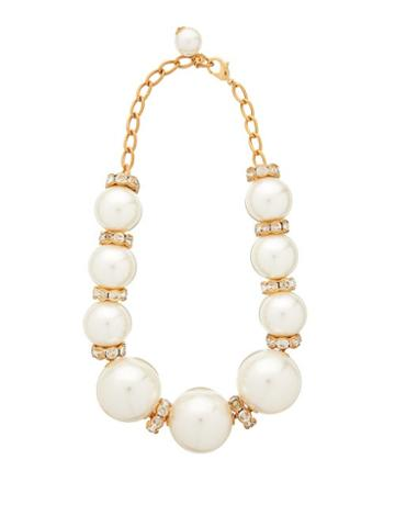 Matchesfashion.com Dolce & Gabbana - Faux Pearl Embellished Necklace - Womens - Pearl