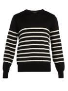 Matchesfashion.com Ami - Striped Wool Knit Sweater - Mens - Black Multi