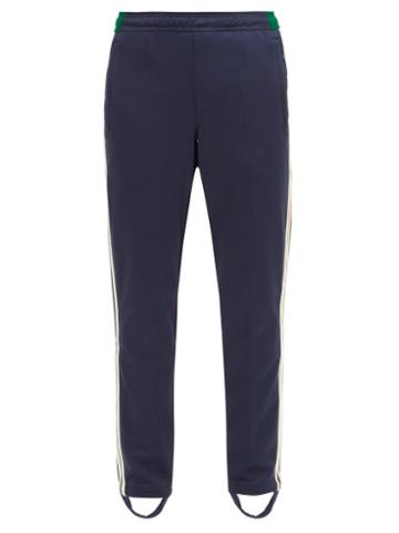 Matchesfashion.com Adidas X Wales Bonner - Crochet-trimmed Technical-jersey Track Pants - Mens - Navy