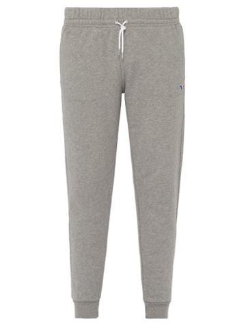Matchesfashion.com Maison Kitsun - Tricolour Fox Patch Cotton Track Pants - Mens - Grey
