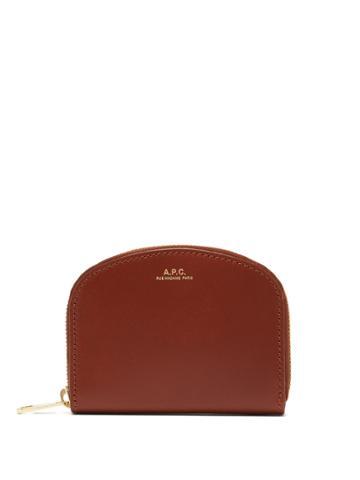 A.p.c. Half-moon Zip-around Leather Wallet