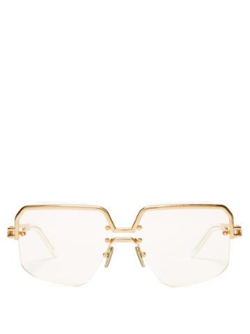 Céline Eyewear Gold-tone Top Frame Sunglasses
