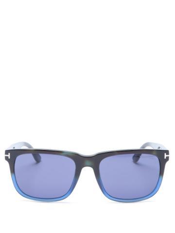 Matchesfashion.com Tom Ford Eyewear - Stephenson Gradated Square Acetate Sunglasses - Mens - Blue