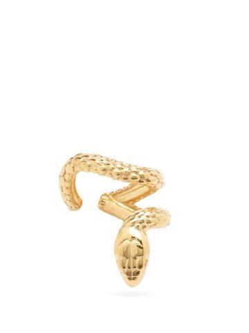 Matchesfashion.com Alan Crocetti - Nashash Ruby & Gold-vermeil Snake Ear Cuff - Mens - Gold