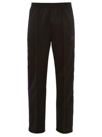 Matchesfashion.com Needles - Side Striped Jersey Track Pants - Mens - Black Purple
