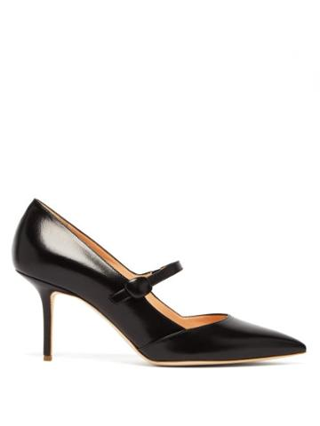 Matchesfashion.com Rupert Sanderson - Robyn Leather Mary Jane Pumps - Womens - Black