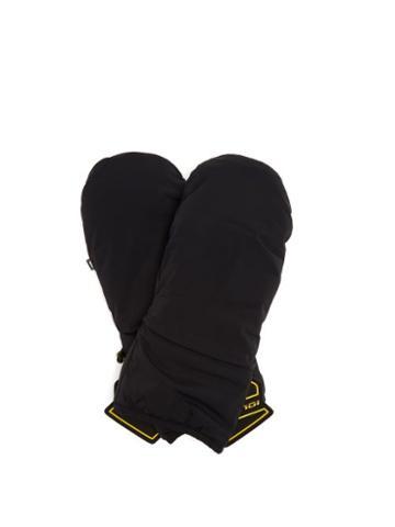 Matchesfashion.com Fendi - Logo-patch Technical Ski Gloves - Womens - Black
