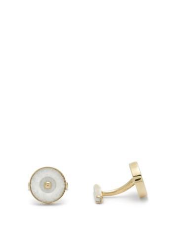 Matchesfashion.com Ioanna Souflia X Ysa - X Ysa Thassos Marble Gold Plated Cufflinks - Mens - Gold Multi