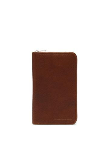 Matchesfashion.com Brunello Cucinelli - Grained Leather Travel Wallet - Mens - Brown