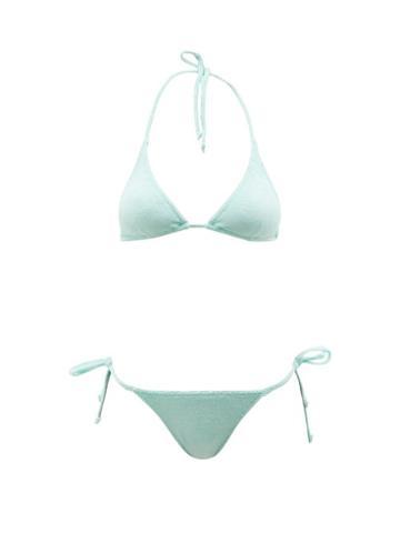 Lisa Marie Fernandez - Pamela Cotton-blend Terry Triangle Bikini - Womens - Green