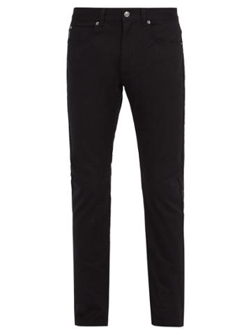 Versace Medusa And Two Angels-embroidered Black Jeans