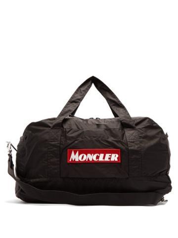 Matchesfashion.com Moncler - Logo Embroidered Holdall - Mens - Black