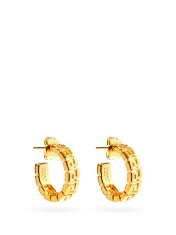 Matchesfashion.com Versace - Greca Cut-out Hoop Earrings - Womens - Gold