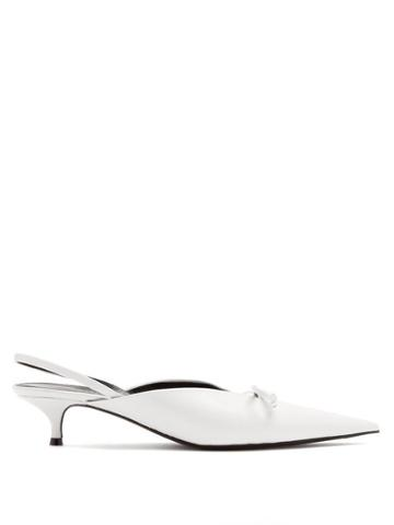 Matchesfashion.com Balenciaga - Knife Mules - Womens - White
