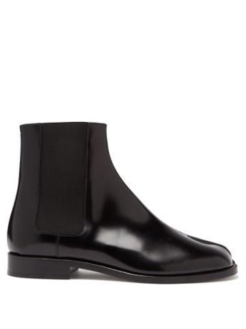 Matchesfashion.com Maison Margiela - Tabi Split-toe Leather Chelsea Boots - Mens - Black