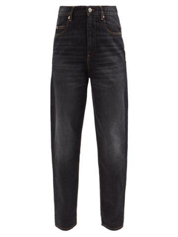 Isabel Marant Toile - Corsysr High-rise Tapered-leg Jeans - Womens - Black