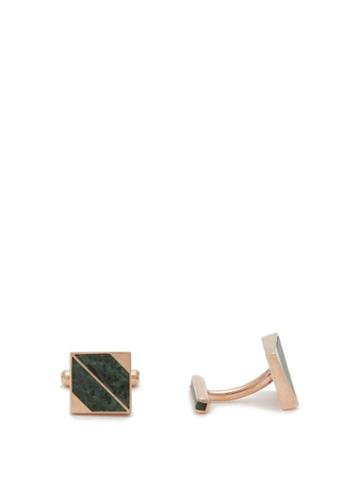 Matchesfashion.com Ioanna Souflia X Ysa - X Ysa Tinos Marble & Rose Gold Plated Cufflinks - Mens - Gold Multi
