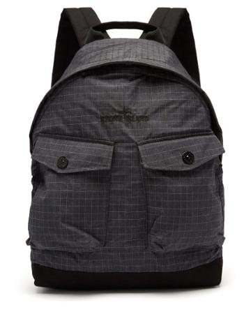 Matchesfashion.com Stone Island - Logo-embroidered Reflective-ripstop Backpack - Mens - Black