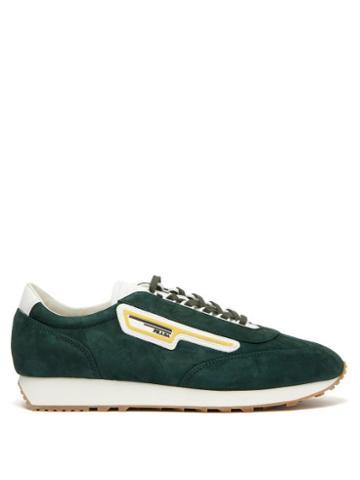 Matchesfashion.com Prada - Milano Suede Trainers - Mens - Green