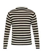 Saint Laurent High-neck Striped Wool Knit Sweater