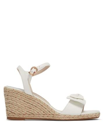 Matchesfashion.com Sophia Webster - Bonnie Leather Espadrille Wedges - Womens - White