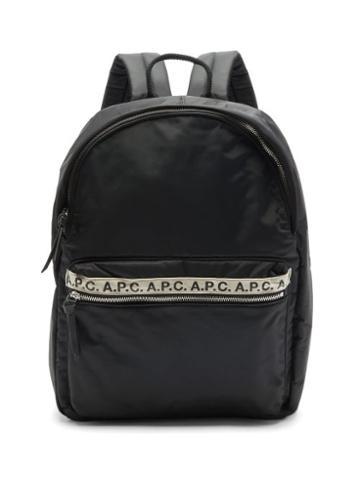 Matchesfashion.com A.p.c. - Repeat Logo-trim Padded-nylon Backpack - Mens - Black