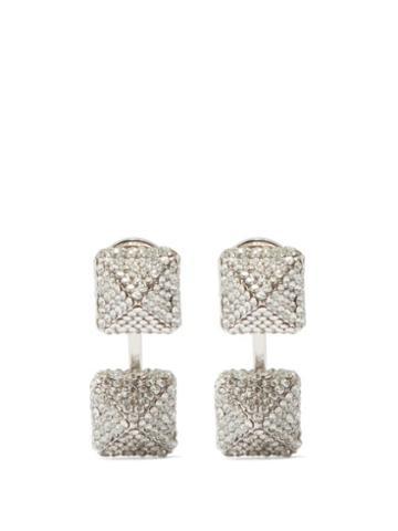 Valentino Garavani - Rockstud Crystal Earrings - Womens - Crystal