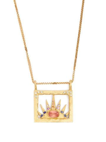 Matchesfashion.com Orit Elhanati - Miami 18kt Gold, Diamond & Sapphire Necklace - Womens - Gold
