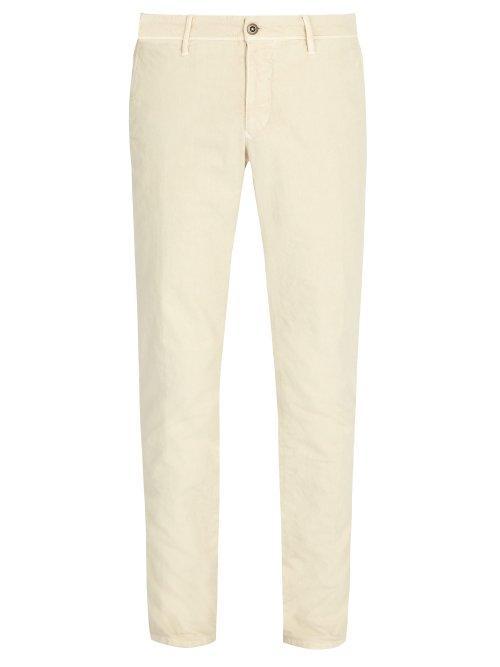 Matchesfashion.com Incotex - Slim Fit Chino Trousers - Mens - Cream
