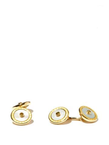 Matchesfashion.com Deakin & Francis - Sapphire & 18kt Gold Cufflinks - Mens - Yellow