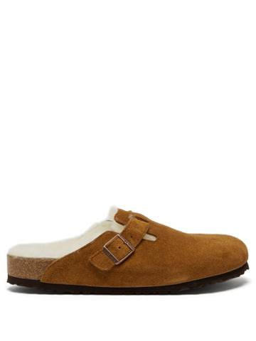 Matchesfashion.com Birkenstock - Boston Shearling-lined Suede Clogs - Mens - Tan