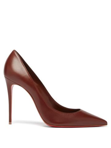 Matchesfashion.com Christian Louboutin - Kate 100 Leather Pumps - Womens - Brown
