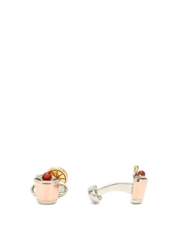 Matchesfashion.com Paul Smith - Whiskey Sour Cufflinks - Mens - Gold Multi