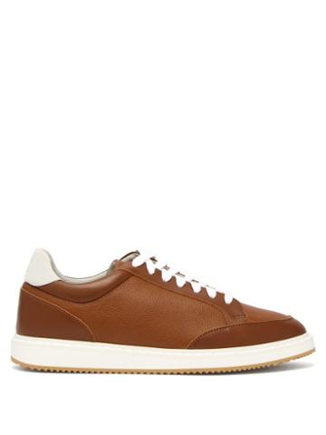 Matchesfashion.com Brunello Cucinelli - Grained Leather Trainers - Mens - Brown