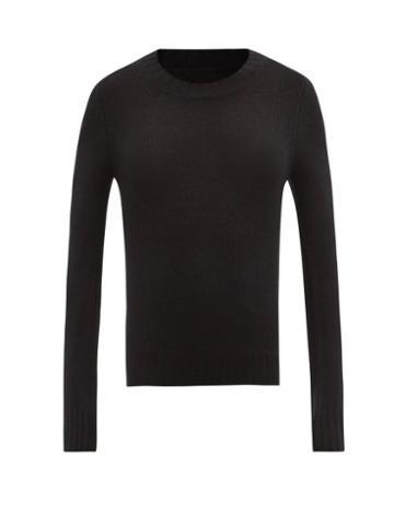 Matchesfashion.com Khaite - Mary Jane Flared-cuff Cashmere Sweater - Womens - Black