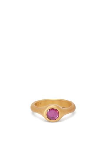 Matchesfashion.com Eli Halili - Pink Ruby & 22kt Gold Ring - Womens - Gold