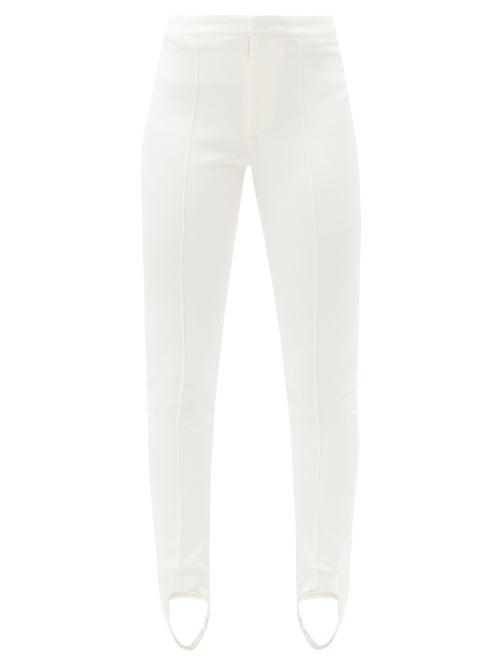 Matchesfashion.com Moncler Grenoble - Stirrup Skinny-fit Ski Trousers - Womens - Cream