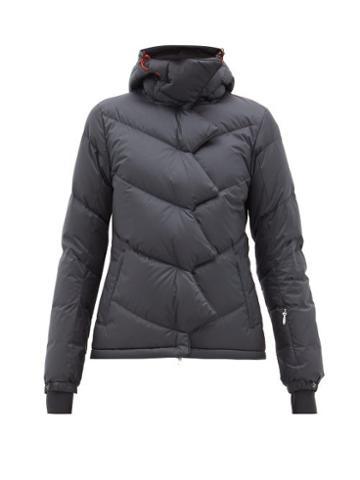 Matchesfashion.com Perfect Moment - Chevron Super Down Filled Ski Jacket - Womens - Black