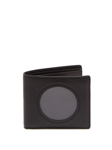 Matchesfashion.com Maison Margiela - Transparent Panel Leather Bi Fold Wallet - Mens - Black