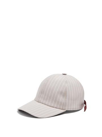 Federica Moretti Bil Striped Cotton Cap