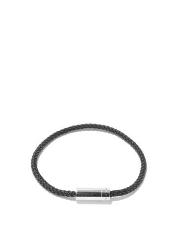 Matchesfashion.com Le Gramme - 5g Cable & Sterling-silver Bracelet - Mens - Black