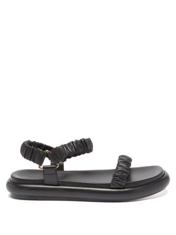 Khaite - Puglia Square-toe Leather Sandals - Womens - Black