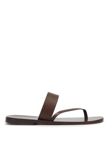 Matchesfashion.com Lvaro - Alberto Leather Sandals - Mens - Dark Brown